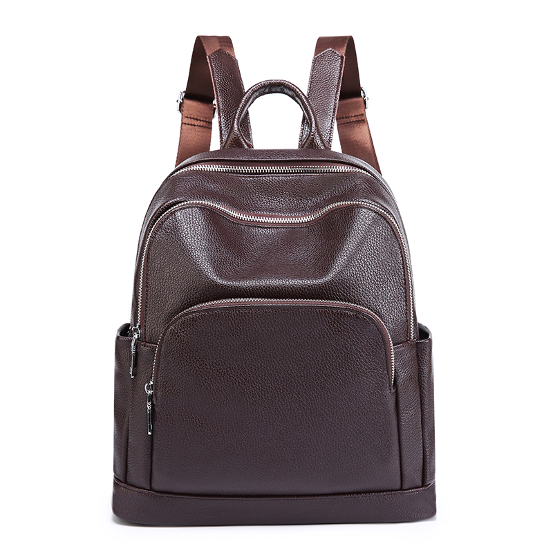 Fashion Women's Backpack Luxury Genuine Leather Bag For Men Teenage Casual Travel Backpack Mini Laptop Schoolbag Backpack 2019