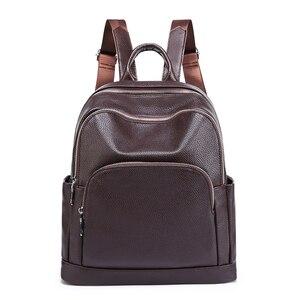 Image 1 - Sac à dos de mode pour femmes en cuir véritable sac à bandoulière de luxe pour femmes
