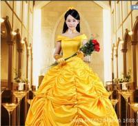 Beauty and the Beast Fancy Dress Cosplay Traje da princesa belle para adultos Trajes de Halloween fantasia Traje Terno das mulheres do sexo feminino
