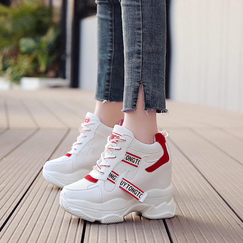 Women Sneakers Fashion Women Height Increasing Breathable Lace-Up Wedges Sneakers Platform Shoes Woman Casual ShoesWomen Sneakers Fashion Women Height Increasing Breathable Lace-Up Wedges Sneakers Platform Shoes Woman Casual Shoes