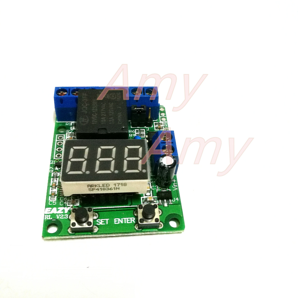 01 Seconds Timer Counter Control Relay Measured Voltage Switch Debounce Switching Signal Timing Delay Trigger Start In Integrated Circuits From Electronic Components