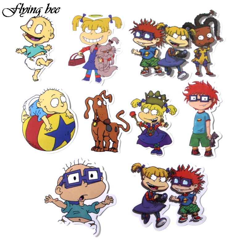 Image 4 - Flyingbee 40 Pcs Cute Anime Car Sticker Decals Waterproof Scrapbooking Stickers for DIY Luggage Laptop Skateboard Sticker X0018-in Stickers from Consumer Electronics