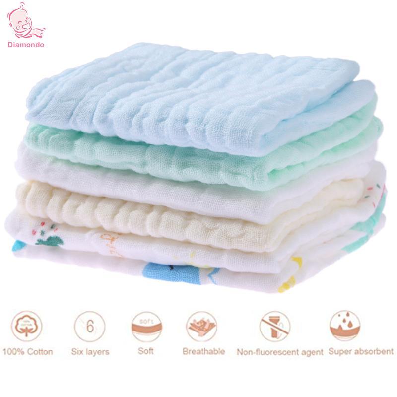 6 sztuk / zestaw Baby Burp Cloths Miękka Kreskówka Dziecko Dzieci - Odzież dla niemowląt - Zdjęcie 2