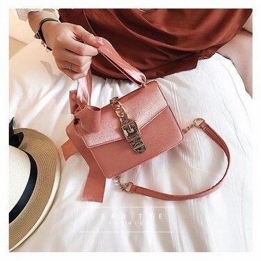 Ems Oder Dhl Ketten Black Taschen Messenger Frauen rosa Bowknot Bags Mode Durch Flap Haspe 10 Bag Luxus Einfarbig green Stücke brown Damen ESqv5wx