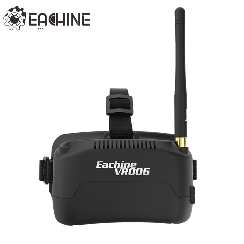 In Stock Eachine E013 VR006 VR-006 One-antenna 3 Inch 5.8G 40CH Mini FPV Goggles Build in 3.7V 500mAh Battery VS EV800 Fatshark in stock eachine ev800d 5 8g 40ch diversity fpv goggles 5 inch 800 480 video headset hd dvr build in battery vs fatshark aomway