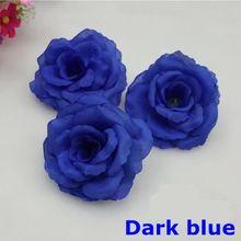 NEW10PCS/Lot 8 cm Koyu Mavi Yapay Gül İpek Çiçek DIY Düğün Ev Dekorasyon Şenlikli Parti Malzemeleri Can mix Renk