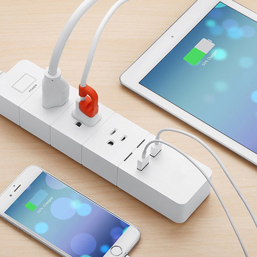 WiFi Smart Home Electronic Power Strip Socket 3 AC Outlets Fast Charging 2 USB With Alexa Remote Control EU UK Plug in Smart Power Socket Plug from Consumer Electronics