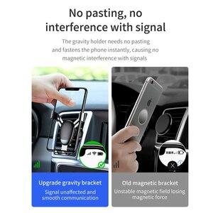 Image 5 - Baseus מיני הכבידה טלפון מחזיק אוויר Vent רכב הר מחזיק עבור טלפון במכונית מחזיק טלפון Stand עבור iPhone X XS סמסונג S9