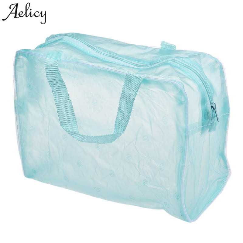 Aelicy New PVC Women Portable Cute Multifunction Beauty Travel Cosmetic Bag Wash Toothbrush Pouch Toiletry Organizer Bag