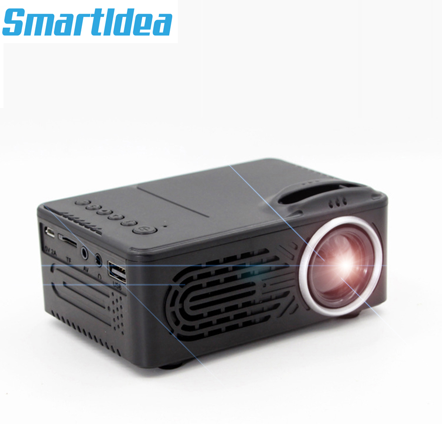 SmartIdea New Mini LED Projector Video Game Beamer Portable Proyector Audio AV USB SD build in
