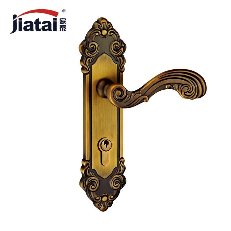Thai high-end home building materials hardware locks ZL249233 European American antique bronze yellow lock on the door