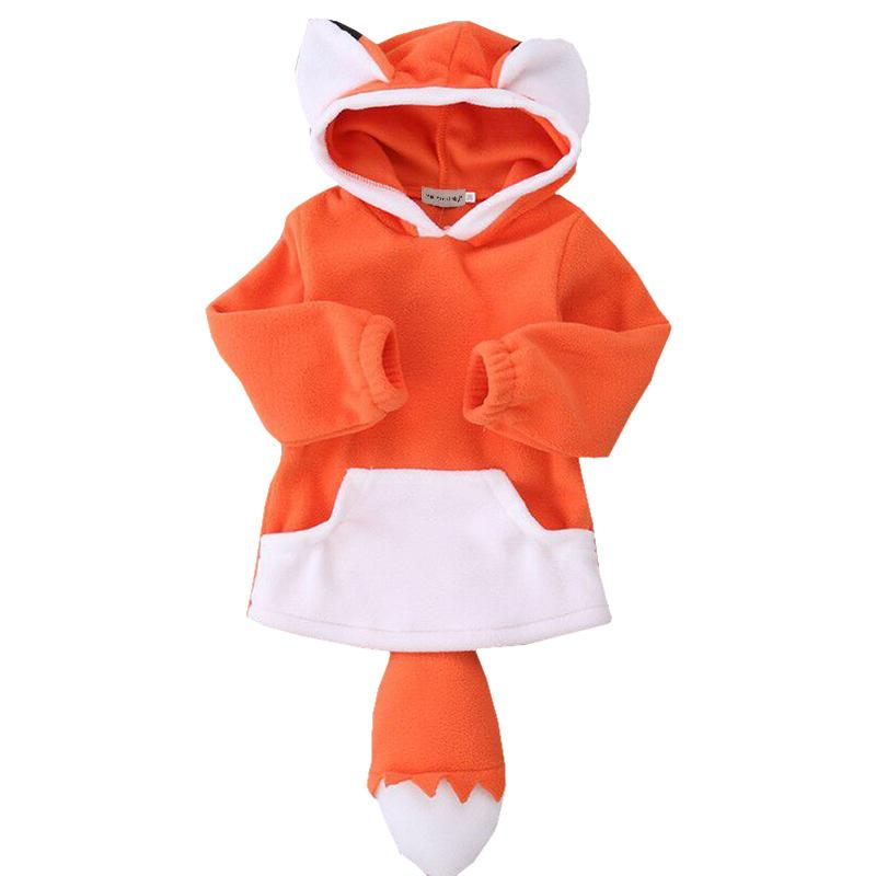 2017 Kids Boys Girls Warm Winter Hooded hoodies Fleece Coat Pullover Autumn Baby Kids Long Sleeve Top Cartoon Jacket