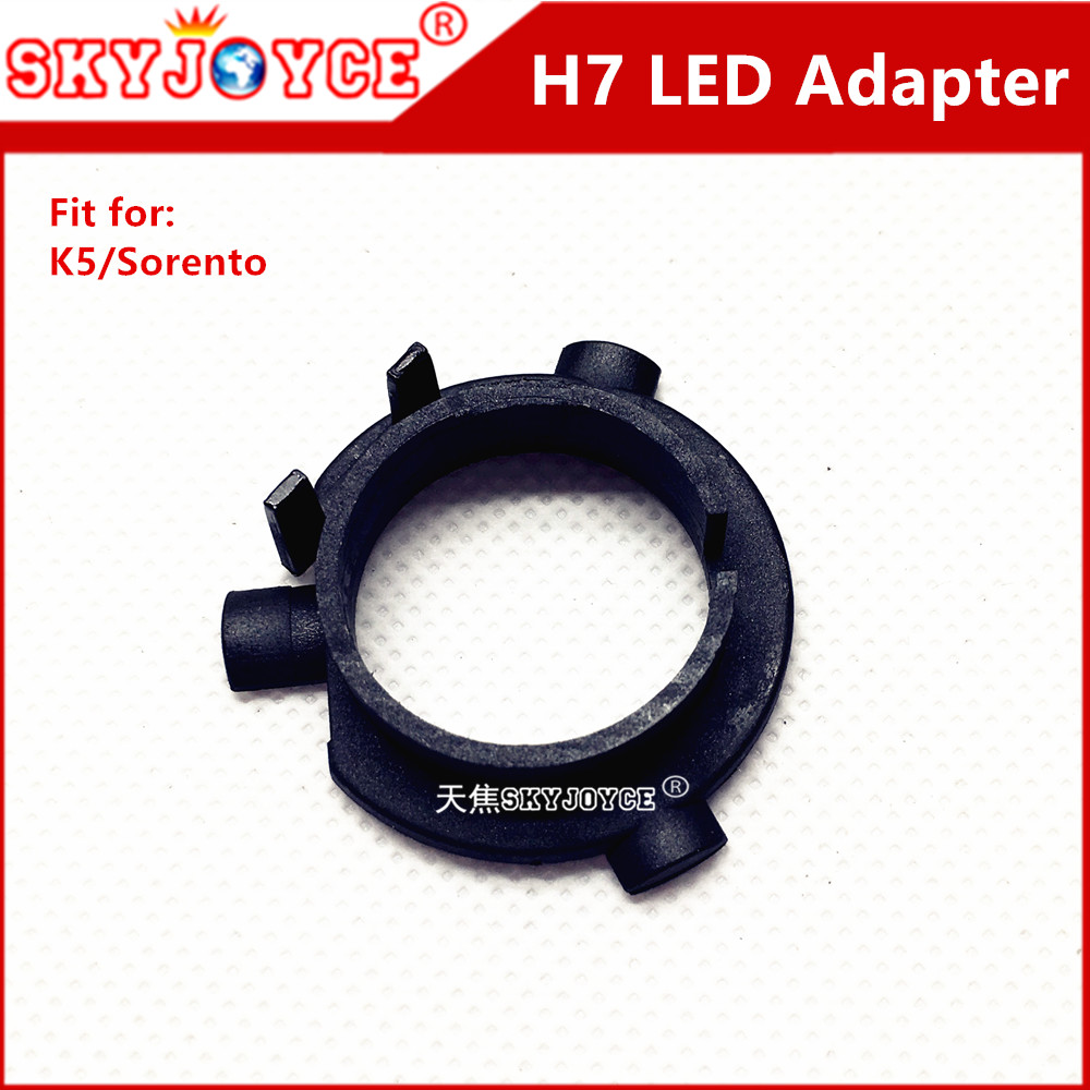 2X led headlight H7 Adapter bulb holder socket H7 holder base for  K5 Sorento headlamp led H7 led adapter car style accessory  пинотекс base грунт 2 7 л