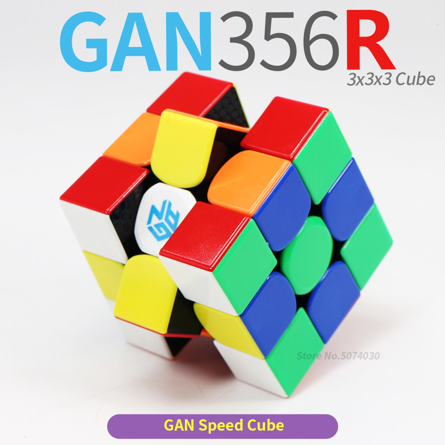 Magic Cube 3x3x3 Speed Cubes 3x3 Gan356R Gan356 R Professional Palyer Stickerless Gan 356R Cubo Magico Gan 356R Puzzle Toy Kids