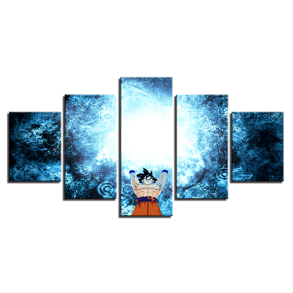 HD Print Paintings on Canvas Wall Art Animation Cartoon Dragon Ball Home Artwork Wall 5 Piece Canvas Wall Art Painting Artwork in Painting Calligraphy from Home Garden