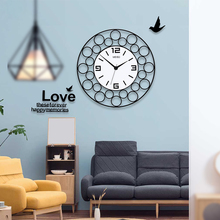 New Round 3D Silent Large Dial Wall Clock Modern Design MEISD Circle Hanging Creative Home Decorative Quartz Free Shipping