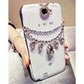 DIY Люкс Diamond Crystal Ожерелье Пластиковые Телефон Случаях Coque Обложка для iPhone 5s SE 6 s 7 Plus для Samsung Galaxy Случае капа