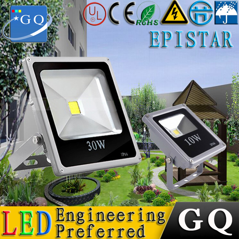 50pcs/lot 10W 20w 30w 50w led flood light led projector light led outdoor lamps floodlight projectors 85-265V white warm white