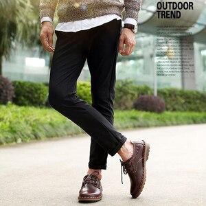Image 3 - ZFTL yeni erkekler rahat ayakkabılar hakiki deri erkek eğlence dantel up yumuşak deri kaymaz ayakkabı adam erkek resmi ayakkabı bahar/Sonbahar 074