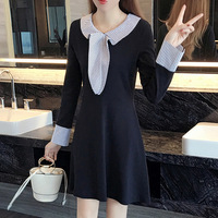 Plus Size XL 5XL Women S 2016 Autumn New College Wind Was Thin Stripes Dress Spell
