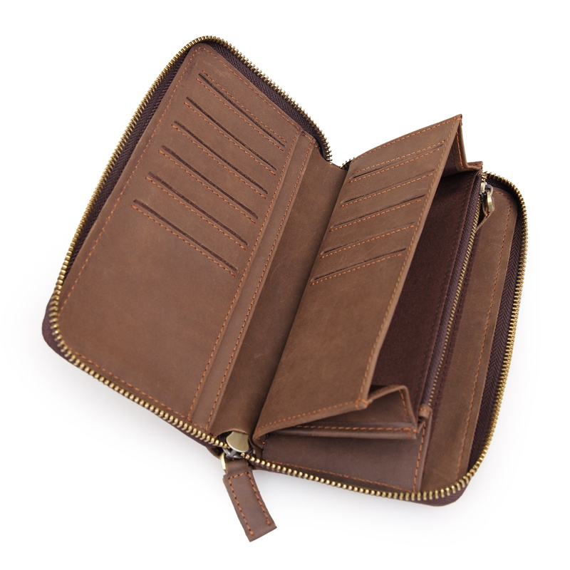 J M D Real Leather Wallet Men 39 s Clutch Bag ID Card Holder Rhombus design Credit Card Case 8127 1R in Wallets from Luggage amp Bags