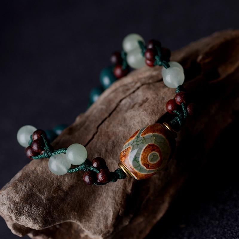 2019 moda vintage wisiorek koraliki Dzi Awenturyn i kamień naturalny - Modna biżuteria - Zdjęcie 3