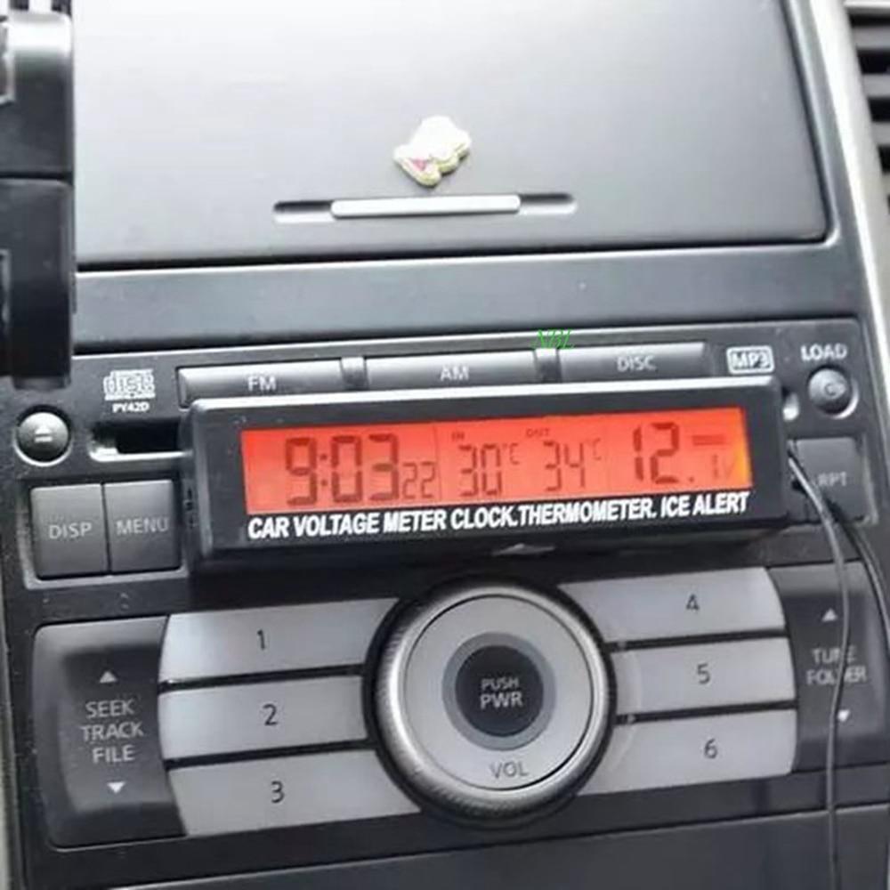 3in1 12 V Pantalla LCD digital Medidor de voltaje de la batería del - Accesorios de interior de coche - foto 4
