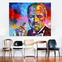 цена Figure Painting Colorful Godfather Print Modern Abstract Canvas Art Wall Pictures For Living Room Home Decor онлайн в 2017 году