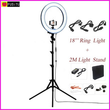 Fusitu 18″ RL-18 Outdoor Dimmable Photo Video LED Ring Light Kit with 2M Tripod Light Stand for DSLR Camera Smartphones