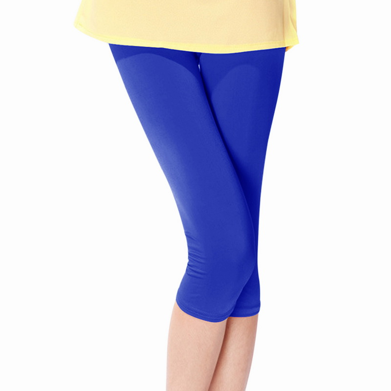 Laamei 2018 New Women Casual   Leggings   Summer Candy Color High Waist Leggin Mujer Slim Was Thin Cropped Pants Plus Size Hot Sale