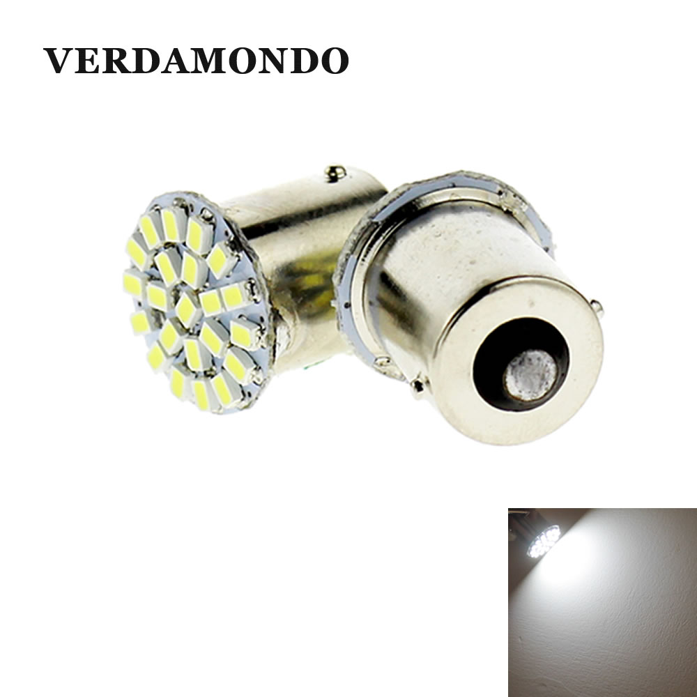 2 Pcs BA15S 1156 1206 3020 22 SMD White LED Brake Turn Light Auto Car Led Wedge Lamp Tail Bulbs Super Bright DC 12V
