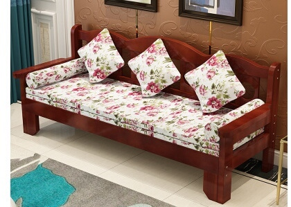 Living Room Sofas Couches For Furniture Home Solid Wood Folding Sofa Bed Recliner