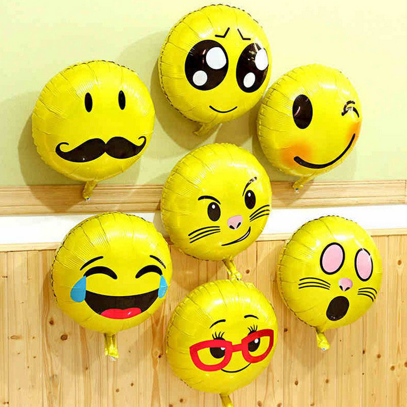 10pcs/lot 18 inch smiley emojis balloon emojis aluminum