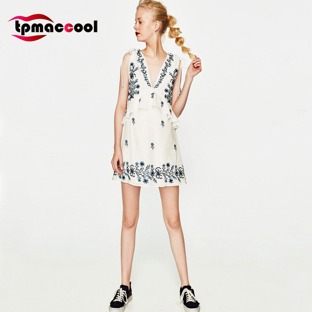 Tpmaccool Occident Fashion Summer Women Dress Vintage 70s Hippie