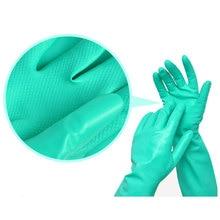 NMSAFETY 1 пара Длинные Зеленые безопасные латексные нитриловые рабочие перчатки химически стойкие неопреновые перчатки