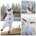 Бесплатная доставка 2016 новый Взрослый Мужской Олаф Снеговик Костюм Пижамы Косплей Пижамы Сиамские пижамы