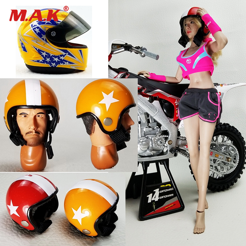 Racing-Helmet Scene-Accessories Action-Figure No-Body 1/6-Scale Plastic 12inches