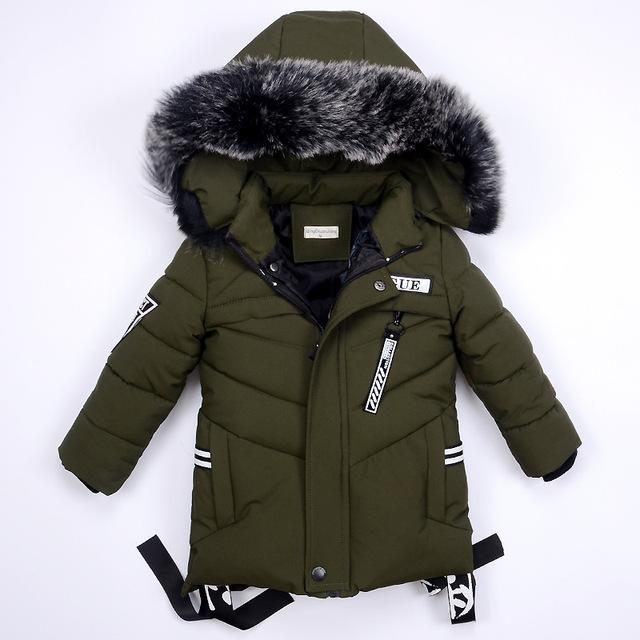 Boys Warm Coat Winter Jackets for Kids Clothes Snowsuit Outerwear & Coats Children Clothing Baby Fur Hooded Jacket Infant Parkas