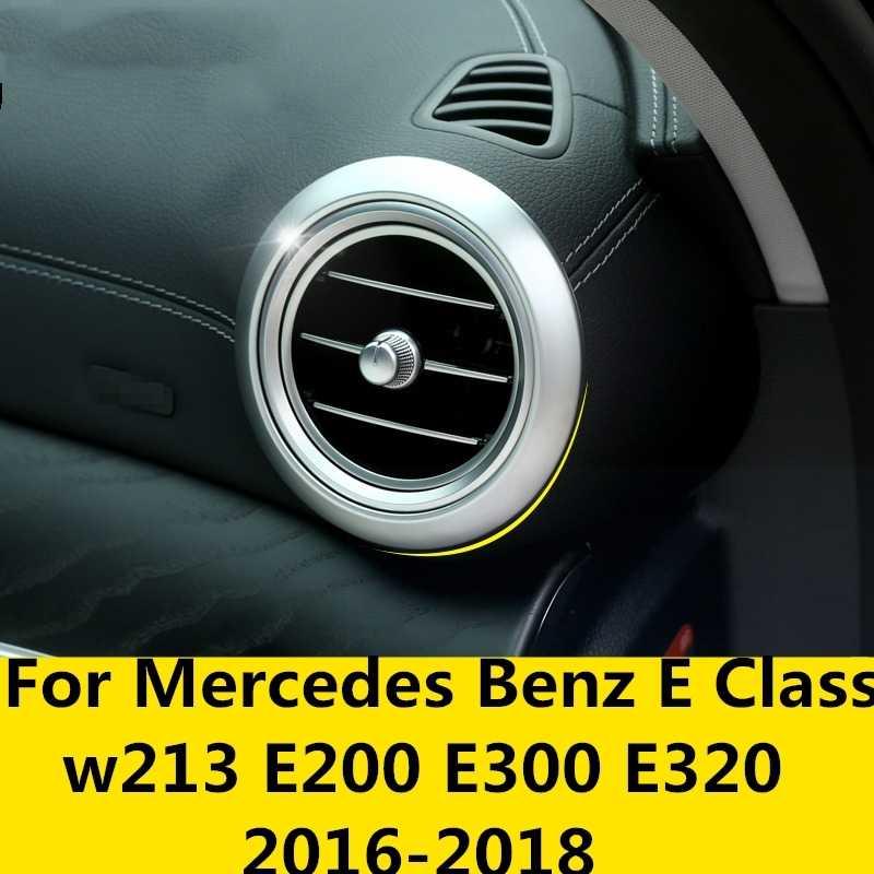 Dành Cho Xe Mercedes Benz Lớp E W213 E200 E300 E320 2016-2018 Bảng Điều Khiển Xe Hộp Đựng Ổ Cắm Điện Đặc Biệt Sửa Đổi ABS Mạ Chrome khung Hình Trang Trí