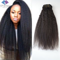 Grade 8A Yaki Straight Clip Ins 7Pcs/Lot Kinky Straight Clip In Hair Extensions African American Clip In Human Hair Extensions