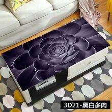 Черный суккуленты 3D скатерть мягкая ПВХ покрытие стола водонепроницаемый анти-горячий журнальный столик коврик Хрустальная тарелка цветок скатерть Декор