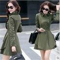 Mulheres jaqueta de Primavera 2015 das mulheres novas Coreano moda Slim colarinho single-breasted casaco longo-sleeved feminino