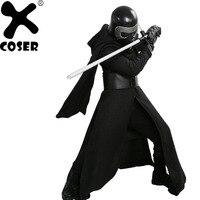 XCOSER Кайло Рен Косплэй костюм V3 версия костюма фильма Звездные войны 7 злодей Косплэй наряд черный нарядное платье; костюм для Хэллоуина