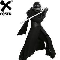 XCOSER Kylo Ren Косплэй костюм V3 версии костюм фильма Звездные войны VII злодей Косплэй наряд черный маскарадный костюм на Хэллоуин