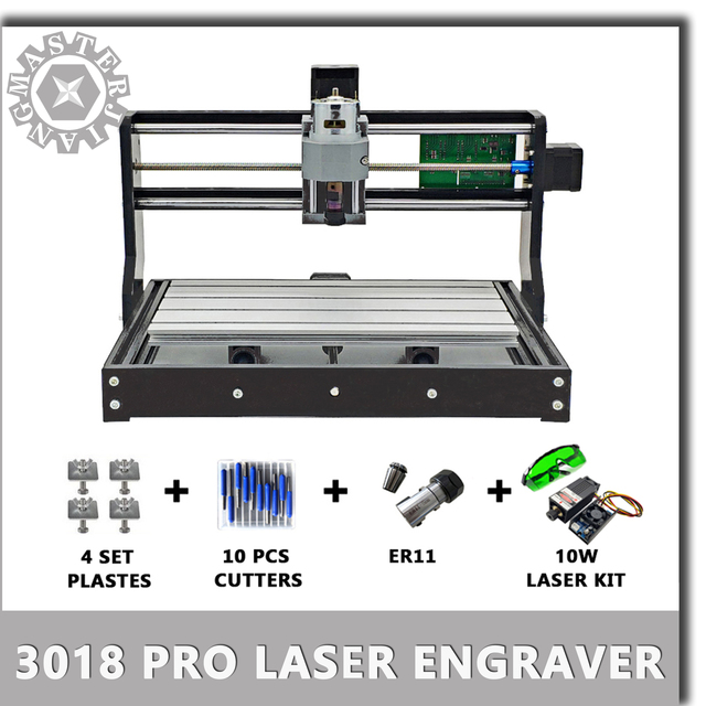 New CNC 3018 Pro GRBL Diy mini laser machine 3 Axis pcb Milling Laser Machine Wood Router laser engraving work offline.