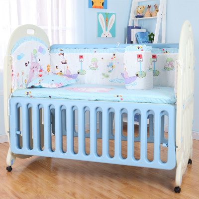 Multi-function baby cribs children bed wave variable desk side of the bed is convenient and environmental protection