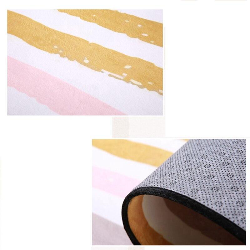 Simple moderne géométrique maison tapis Style nordique salon tapis chambre lit plein doux Polyester tapis rectangulaire doux Floormat - 6