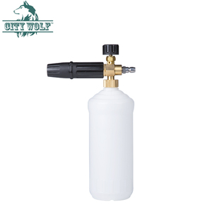 Image 5 - עיר זאב רכב מכונת כביסה G1/4 שחרור מהיר מתאם קצף תותח פליז שלג קצף לאנס סיפון קצף סבון בקבוק מתאם עבור