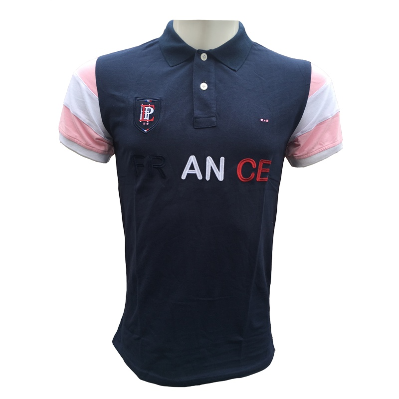 2019 France Brand Eden Park Short Sleeve   Polos   Men   Polo   Shirt lapel shirts High Quality Embroidery pink Cotton Materia tees