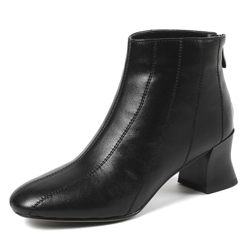Fedonas Marque Martin Zipper Véritable En 2019 Femme Bottines Noir Nouveau Chaussures Bottes Supérieure Laides Qualité Hiver Automne Basiques 1 Cuir AAvdr8xq